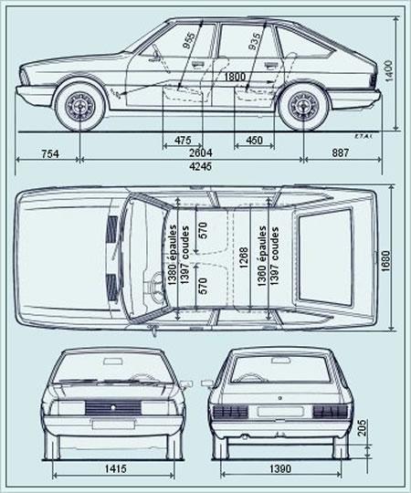 Carros y clasicos dodge alpine moderno para su poca for Medidas de un carro arquitectura