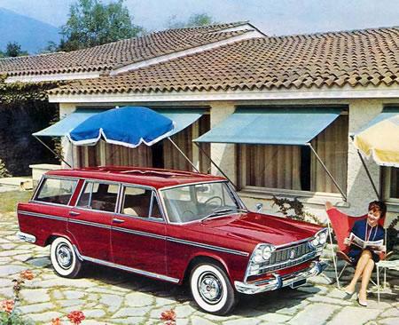 1961 Fiat 2300 Station Wagon. Estos modelos grandes de Fiat
