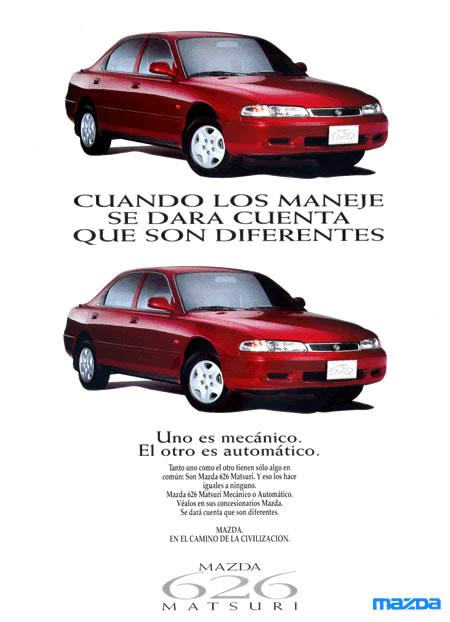 Mazda 626 Sedán Matsuri Tercera Generación