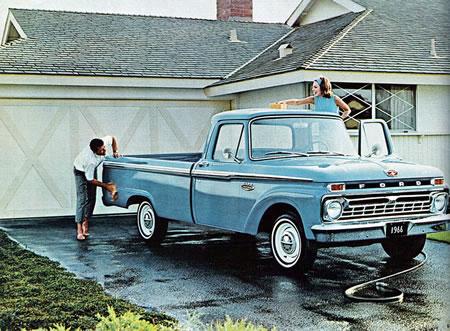 El Twin-I-Beam de la Ford F-100